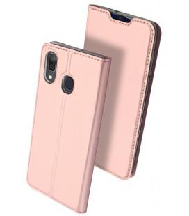 """Dėklas Dux Ducis """"Skin Pro"""" Samsung A202 A20e rožinis-auksinis"""