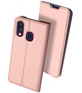 """Dėklas Dux Ducis """"Skin Pro"""" Samsung A405 A40 rožinis-auksinis"""