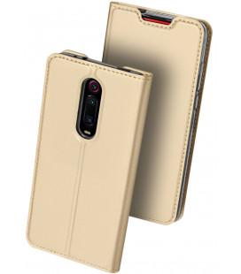 """Auksinės spalvos atverčiamas dėklas Xiaomi Mi 9T / 9T Pro telefonui """"Dux Ducis Skin Pro"""""""