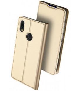 """Auksinės spalvos atverčiamas dėklas Xiaomi Redmi 7 telefonui """"Dux Ducis Skin Pro"""""""
