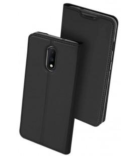 """Juodas atverčiamas dėklas Oneplus 7 telefonui """"Dux Ducis Skin Pro"""""""