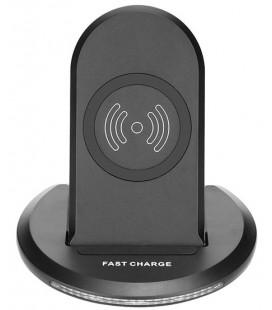 """Universalus juodas belaidis Fast Charge telefonų pakrovėjas su stovu """"U8"""""""