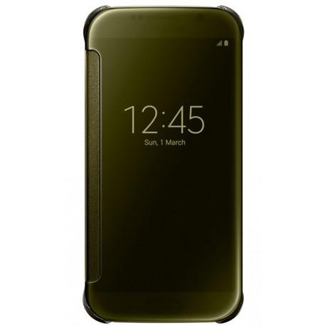 """Originalus auksinės spalvos atverčiamas dėklas """"Clear View Cover"""" Samsung Galaxy S6 G920 telefonui ef-zg920bfe"""