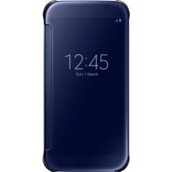 """Originalus juodas atverčiamas dėklas """"Clear View Cover"""" Samsung Galaxy S6 telefonui ef-zg920bbe"""