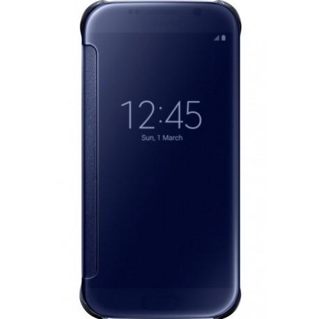 """Originalus juodas atverčiamas dėklas """"Clear View Cover"""" Samsung Galaxy S6 G920 telefonui ef-zg920bbe"""