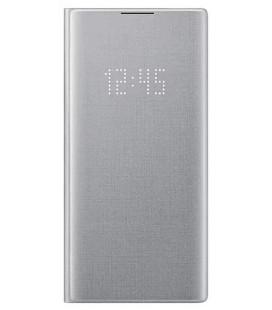 """Originalus sidabrinės spalvos atverčiamas dėklas """"LED View Cover"""" Samsung Note 10 Plus telefonui """"EF-NN975PSEGWW"""""""