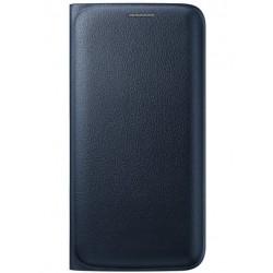 """Originalus juodas atverčiamas dėklas """"Flip Wallet"""" Samsung Galaxy S6 Edge telefonui ef-wg925pbe"""