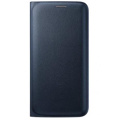 """Originalus juodas atverčiamas dėklas """"Flip Wallet"""" Samsung Galaxy S6 Edge G925 telefonui ef-wg925pbe"""
