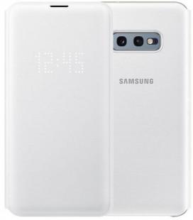 """Originalus baltas atverčiamas dėklas """"LED View Cover"""" Samsung Galaxy S10E telefonui """"EF-NG970PWEGWW"""""""