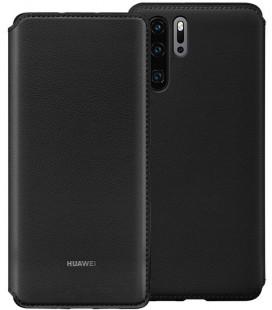 """Originalus juodas atverčiamas dėklas Huawei P30 Pro telefonui """"Wallet Cover"""""""