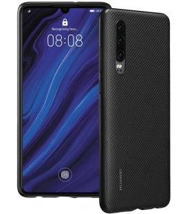 """Originalus juodas dėklas Huawei P30 telefonui """"Protective PU Case"""""""