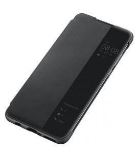 """Originalus juodas atverčiamas dėklas Huawei P30 Lite telefonui """"View cover"""""""
