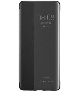 """Originalus juodas atverčiamas dėklas Huawei P30 Pro telefonui """"Smart View Flip Cover"""""""