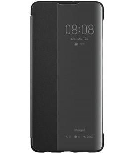 """Originalus juodas atverčiamas dėklas Huawei P30 telefonui """"Smart View Flip Cover"""""""