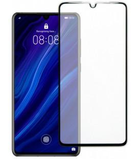 """Juodas apsauginis grūdintas stiklas Huawei P30 telefonui """"TEMPERED Glass 3D Full Cover"""""""