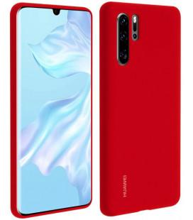 """Originalus raudonas dėklas Huawei P30 Pro telefonui """"Silicone Case"""""""
