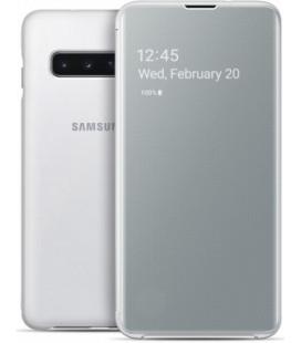 """Originalus baltas atverčiamas dėklas """"Clear View Cover"""" Samsung Galaxy S10 telefonui """"EF-ZG973CWEGWW"""""""