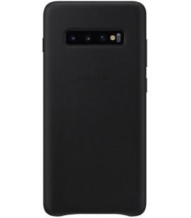 """Originalus juodas dėklas """"Leather Cover"""" Samsung Galaxy S10 telefonui """"EF-VG973LBEGWW"""""""