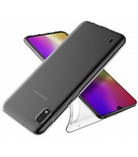 Skaidrus plonas 0,3mm silikoninis dėklas Samsung Galaxy A10/M10 telefonui