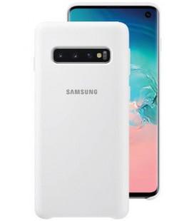 "Originalus baltas dėklas ""Silicone Cover"" Samsung Galaxy S10 telefonui ""EF-PG973TWEGWW"""