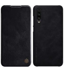 """Odinis juodas atverčiamas dėklas Xiaomi Mi A3 telefonui """"Nillkin Qin"""""""