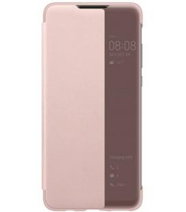 """Originalus rožinis atverčiamas dėklas Huawei P30 Lite telefonui """"View Cover"""""""