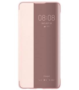 """Originalus rožinis atverčiamas dėklas Huawei P30 telefonui """"Smart View Flip Cover"""""""