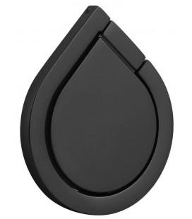 """Juodas universalus telefono laikiklis ant piršto - žiedas """"Water Drop"""""""