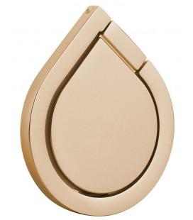 """Auksinės spalvos universalus telefono laikiklis ant piršto - žiedas """"Water Drop"""""""