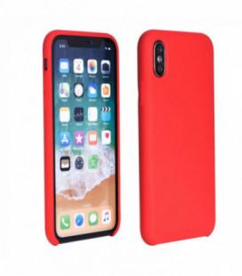 Dėklas Silicone Cover Samsung A750 A7 2018 raudonas