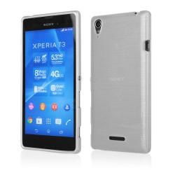 "Baltas silikoninis dėklas Sony Xperia Z5 Compact telefonui ""Jelly Metallic"""