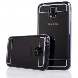 """Juodas silikoninis dėklas Samsung Galaxy S5 G900 telefonui """"Mirror"""""""