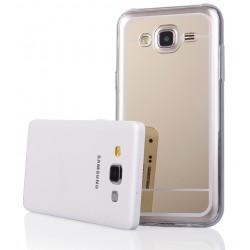 """Auksinės spalvos silikoninis dėklas Samsung Galaxy J5 J500 telefonui """"Mirror"""""""