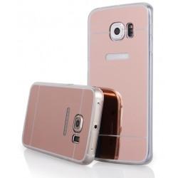 """Rausvai auksinės spalvos silikoninis dėklas Samsung Galaxy S6 Edge G925 telefonui """"Mirror"""""""