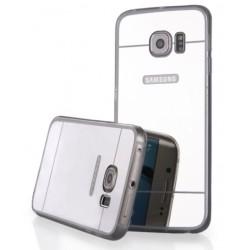 """Sidabrinės spalvos silikoninis dėklas Samsung Galaxy S6 Edge G925 telefonui """"Mirror"""""""