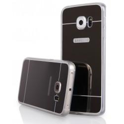 """Juodas silikoninis dėklas Samsung Galaxy S6 Edge G925 telefonui """"Mirror"""""""