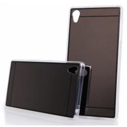 """Juodas silikoninis dėklas Sony Xperia Z5 telefonui """"Mirror"""""""