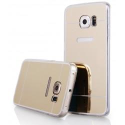 """Auksinės spalvos silikoninis dėklas Samsung Galaxy S6 Edge+ G928 telefonui """"Mirror"""""""