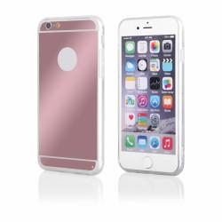 """Rausvai auksinės spalvos silikoninis dėklas Apple iPhone 5/5s telefonui """"Mirror"""""""