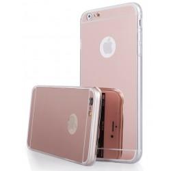 """Rausvai auksinės spalvos silikoninis dėklas Apple iPhone 6/6s telefonui """"Mirror"""""""