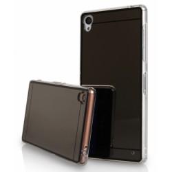 """Juodas silikoninis dėklas Sony Xperia Z3 telefonui """"Mirror"""""""