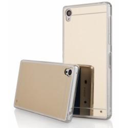"""Auksinės spalvos silikoninis dėklas Sony Xperia Z3 telefonui """"Mirror"""""""