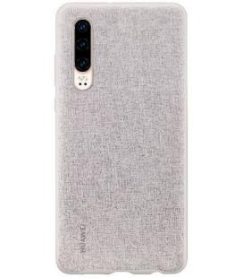 """Originalus pilkas dėklas Huawei P30 telefonui """"Protective PU Case"""""""