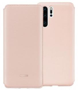 """Originalus rožinis atverčiamas dėklas Huawei P30 Pro telefonui """"Wallet cover"""""""