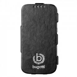 """Juodas atverčiamas dėklas Samsung Galaxy S5 telefonui """"Bugatti Geneva"""""""