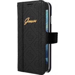 """Juodas atverčiamas dėklas Samsung Galaxy S6 G900 telefonui """"Guess"""""""