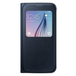 Originalus juodas dėklas S View Samsung Galaxy S6 telefonui ef-cg920pbe