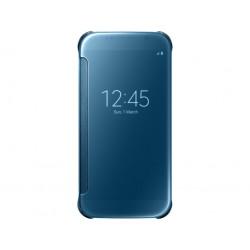 """Originalus mėlynas atverčiamas dėklas """"Clear View Cover"""" Samsung Galaxy S6 telefonui ef-zg920ble"""