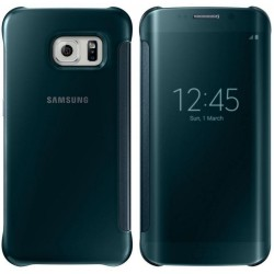 """Originalus žalias atverčiamas dėklas """"Clear View Cover"""" Samsung Galaxy S6 Edge telefonui ef-zg925bge"""