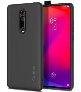 "Juodas silikoninis dėklas Xiaomi Mi 9T telefonui ""Spigen Silicone Fit"""